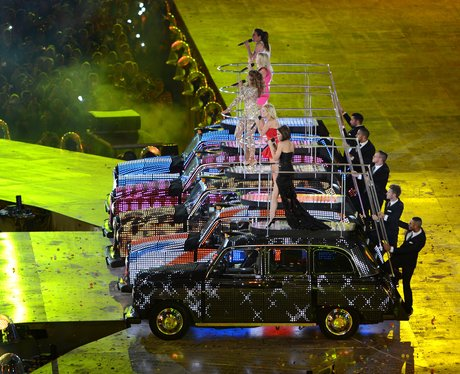 Spice Girls at the London 2012 closing ceremony.