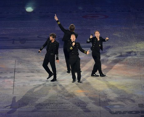 Take That at the Olympics closing ceremony.