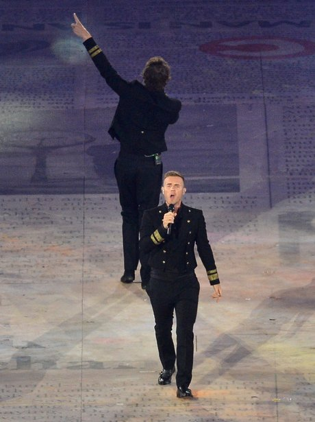 Take That at the Olympics closing ceremony