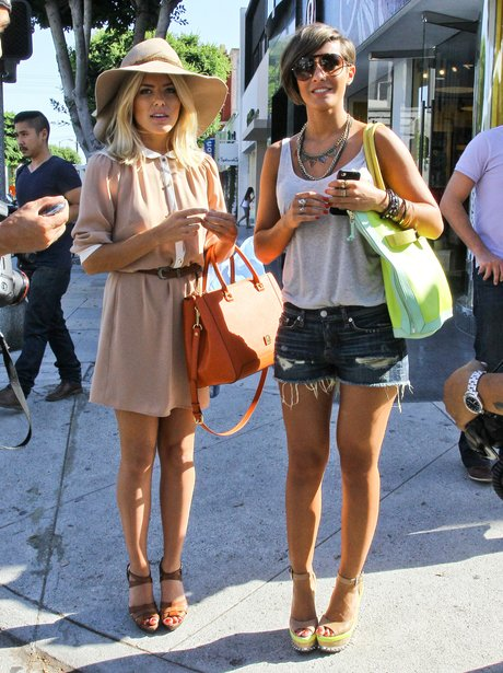 Mollie King and Frankie Sandford shopping in America.