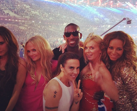 Tinie Tempah and The Spice Girls at London 2012 Closing Ceremony