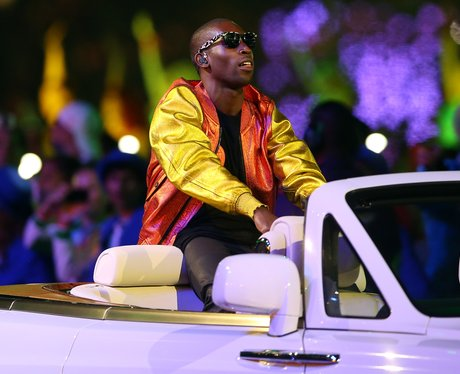 Tinie Tempah at the Olympic closing ceremony.