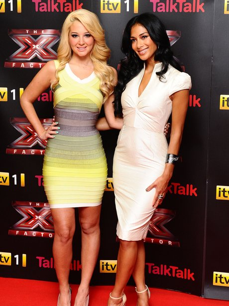 Tuisa and Nicole Scherzinger at the X Factor press launch.