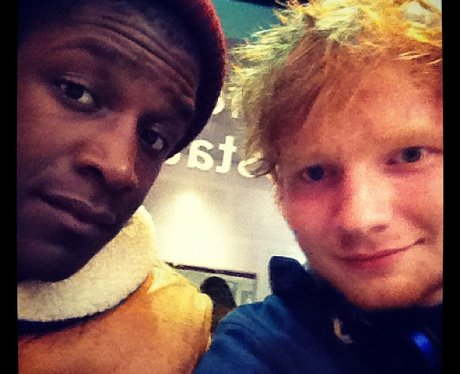 Ed Sheeran and Labrinth in the studio