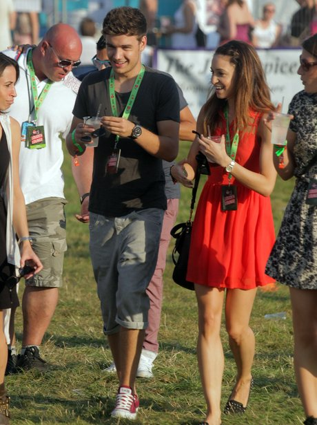 Liam Payne with his girlfriend at V Festival