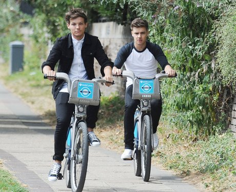 Liam Paine and Louis Tomlinson bike riding