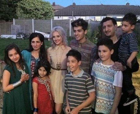 Perri Edwards with Zayn's family