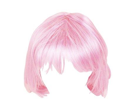 a pink wig