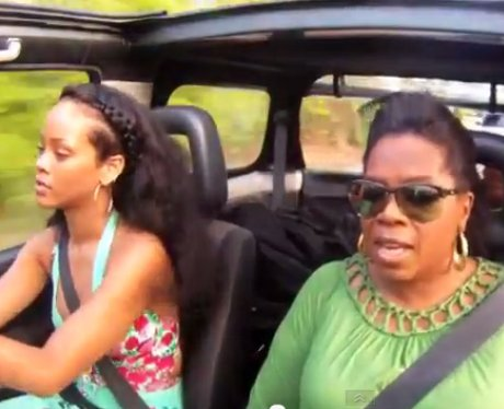 Rihanna with Oprah Winfrey
