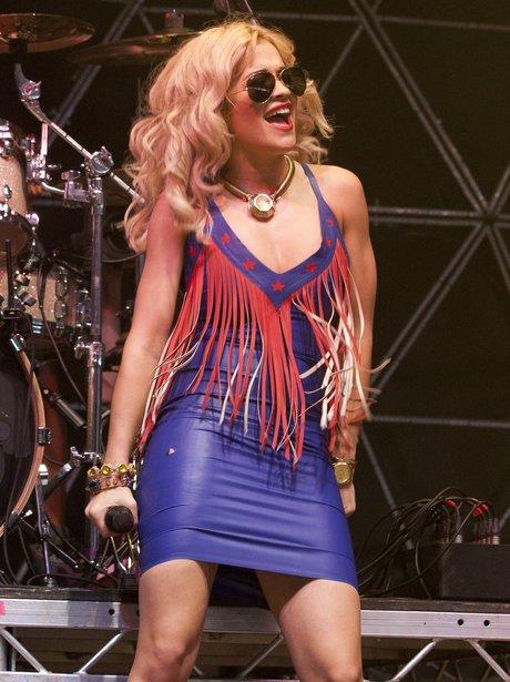 Rita Ora Performs On Stage