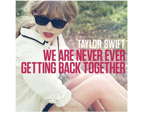 Taylor's 'We Are Never Ever Getting Back Together' single artwork