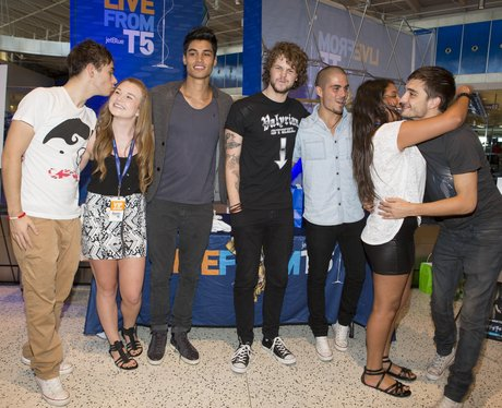 The Wanted with fans at JFK airport