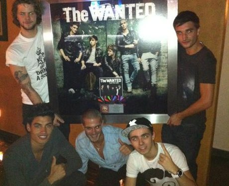 The Wanted presented with triple platinum plaque