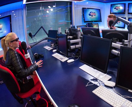 Tulisa and James Barr in the Capital studio