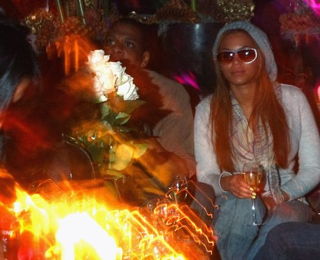 Beyonce parties with husband Jay-Z.