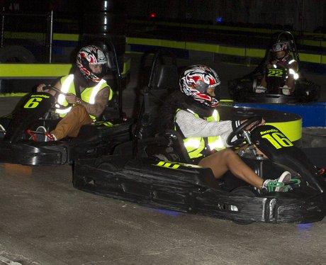 Rihanna go-karting