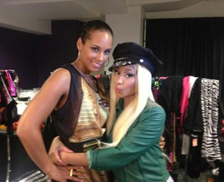 Alicia Keys and Nicki Minaj at MTV VMAs.