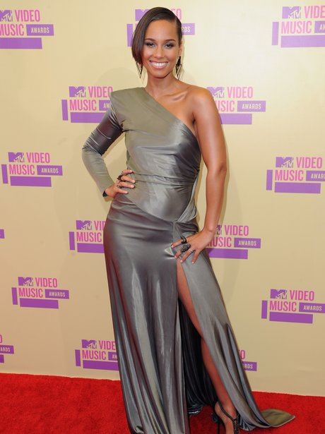 Alicia Keys arrives  at the MTV VMA 2012 Awards