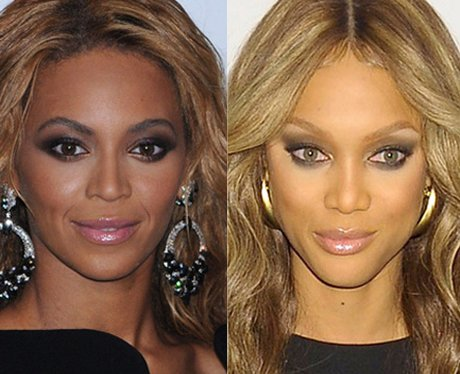 Beyonce and Tyra Banks lookalike