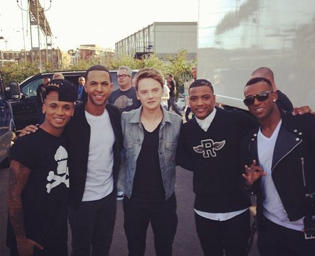 Conor Maynard and JLS at the iTunes Festival.