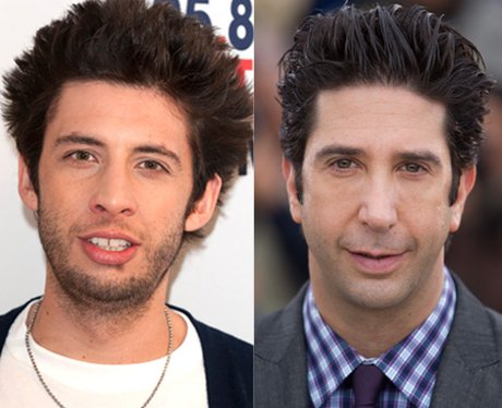 Example and David Schwimmer lookalikes