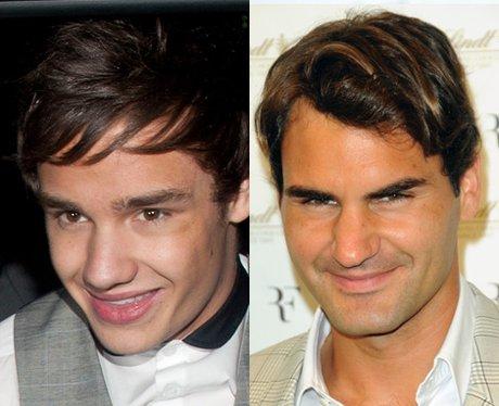 Liam Payne and Roger Federer lookalike