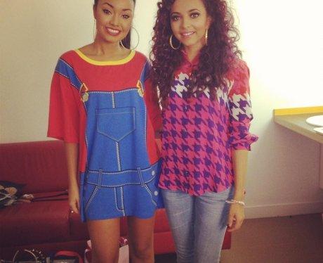 Little Mix stars Jesy Nelson and Leigh-Anne Pinnock.