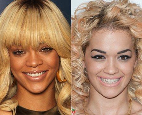 Rihanna and Rita Ora.