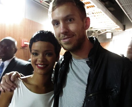 Rihanna and Calvin at the VMAs