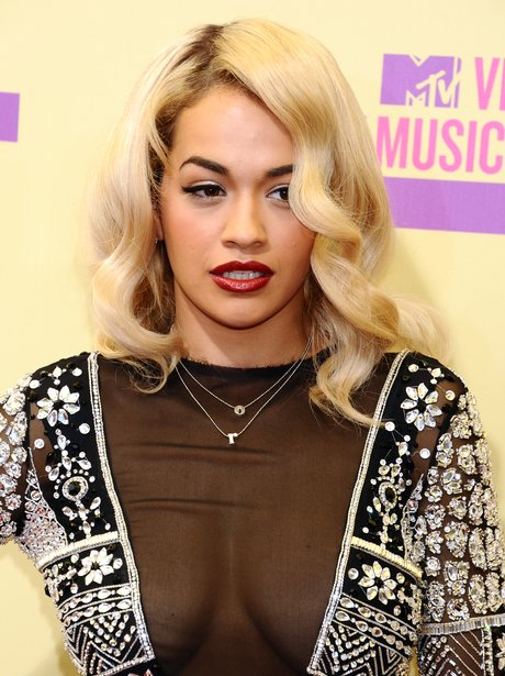Rita Ora arrives at the MTV VMA 2012 Awards