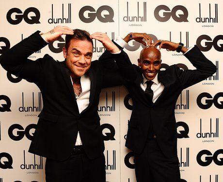Robbie Williams and Mo Farah at GQ men of the year