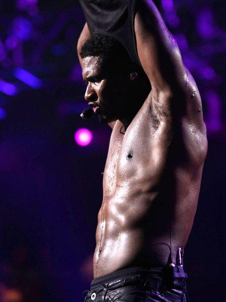 Usher topless