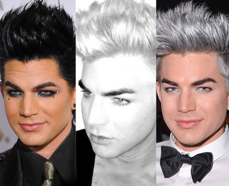 Adam Lambert goes bright silver.