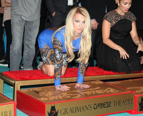 Britney Spears helps premiere The X Factor USA.