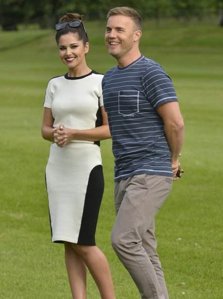 Cheryl Cole and Gary Barlow at Judges Houses.