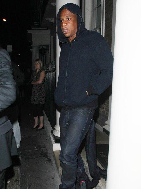 Jay Z leaving the Arts Club in Mayfair.