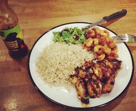 Aston Merrygold's food