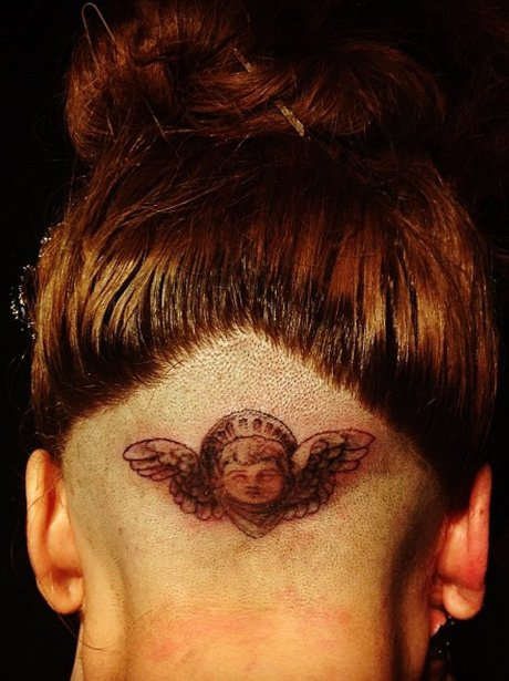 Lady Gaga Head Tattoo