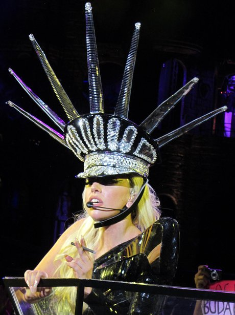 Lady Gaga as the Statue Of Liberty.