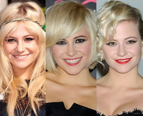 Pixie Lott cuts her hair short.