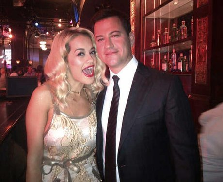 Rita Ora With Jimmy Kimmel
