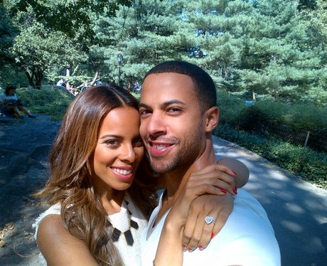 Rochelle and Marvin hugging