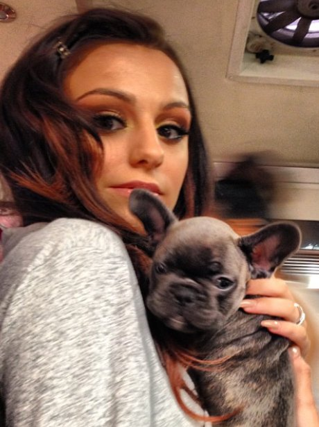 Cher Lloyd with her dog