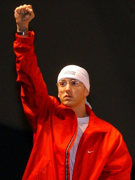 Eminem live on stage