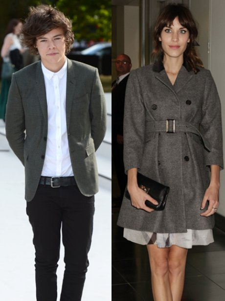 Harry Styles and Alexa Chung  London Fashion Week