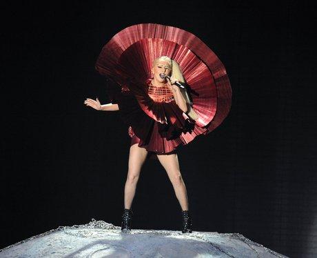 Lady Gaga at the The MTV EMAs 2011.