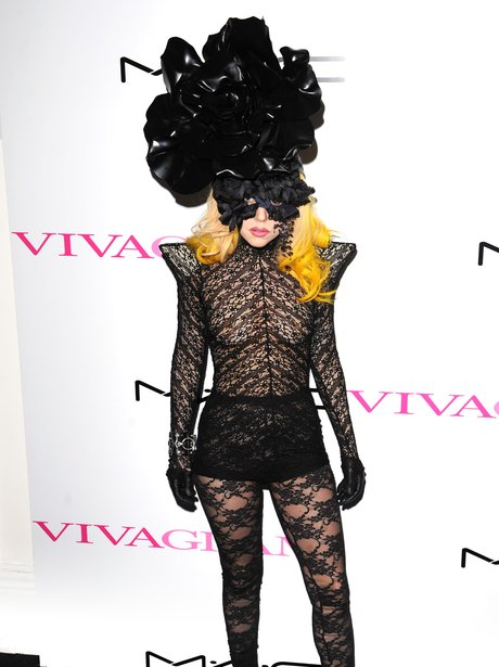 Lady Gaga at the Mac Viva Glam Launch in 2010.