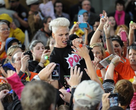 Pink performs in NY