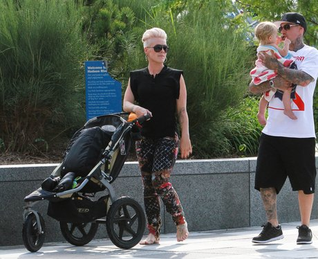 Pink with family