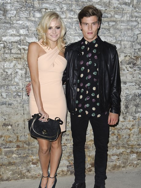 Pixie Lott and Oliver Cheshire at London Fashion Week